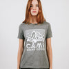 CAMP BRAND GOODS - HERITAGE LOGO RELAXED T-SHIRT // TRI GREY