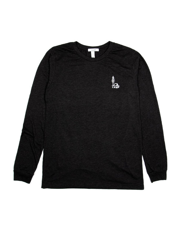 Camp Brand Goods - In Tents Long Sleeve // Black Heather
