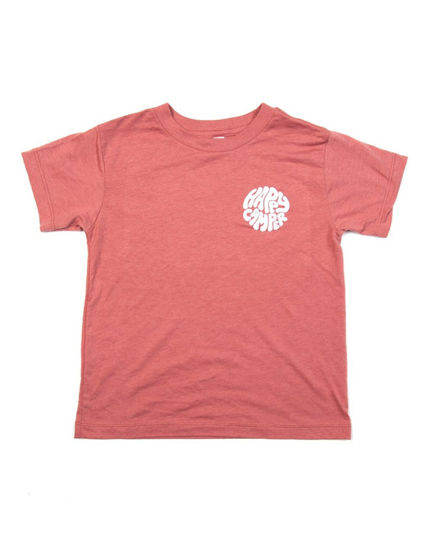Camp Brand Goods - Kids Happiest Camper T-Shirt // Mauve