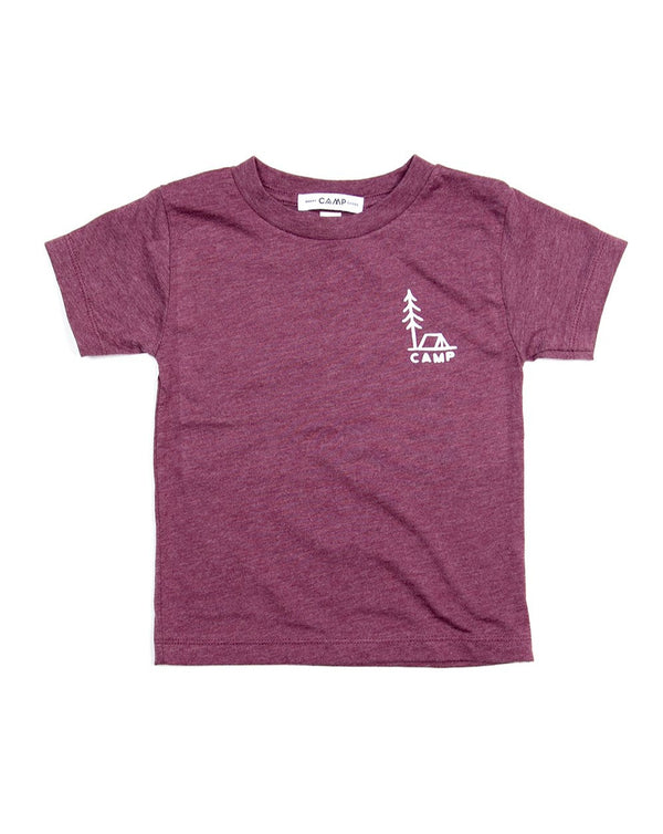 Camp Brand Goods - Kids In Tents T-Shirt // Maroon