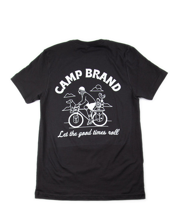 Camp Brand Goods - Let The Good Times Roll T-Shirt // Vintage Black