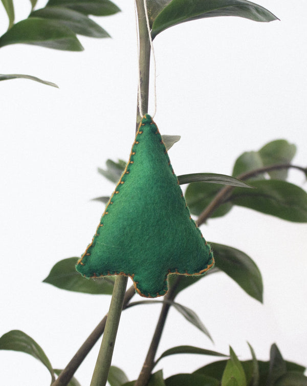 Coral & Greenwood - Tree Ornament