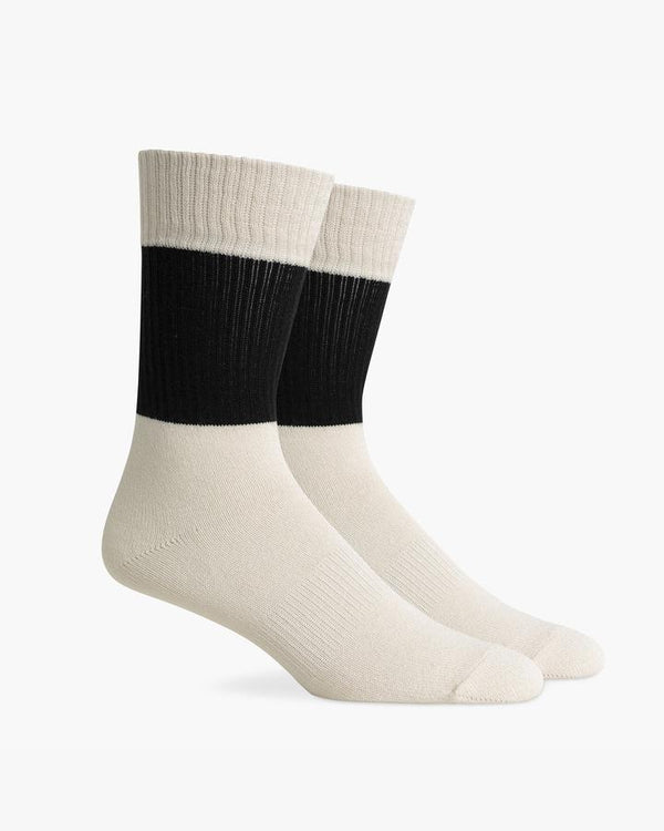 Richer Poorer - Men's Rigby Sock - Black & White