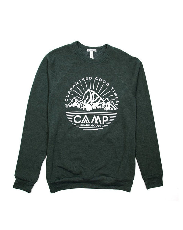 Camp Brand Goods - Mountain Crest Sweatshirt // Emerald Heather