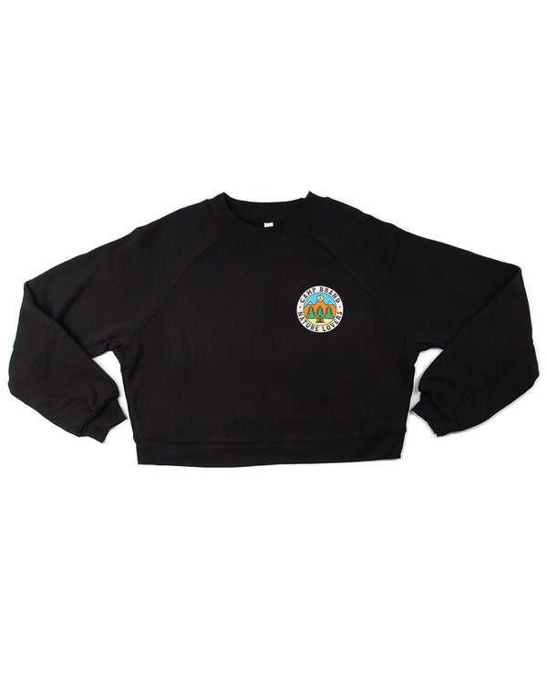 Camp Brand Goods - Nature Lovers Boxy Sweatshirt // Black