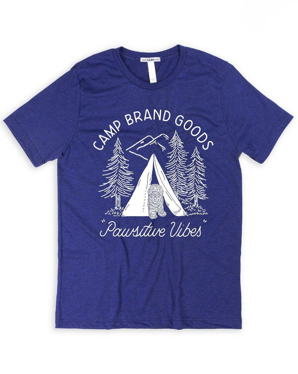 Camp Brand Goods - Pawsitive Vibes T-Shirt // Tri Navy