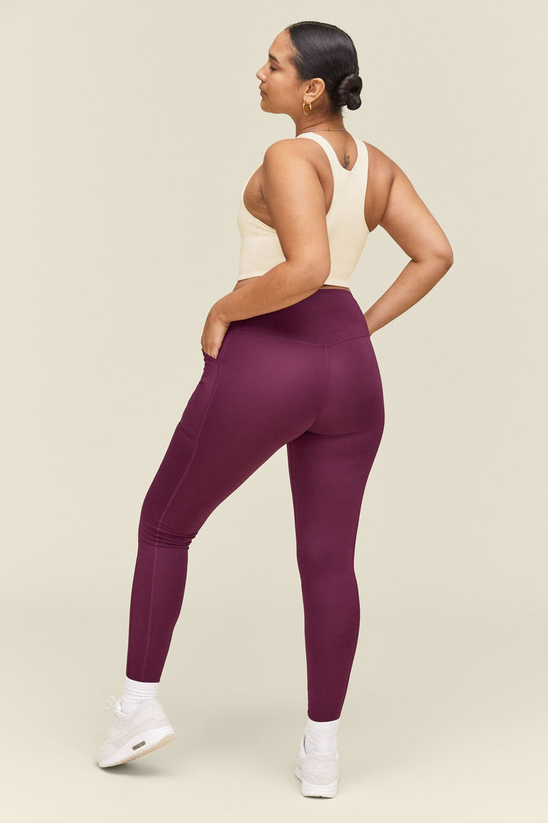 Girlfriend Collective - Highrise Compressive Pocket Legging Plum
