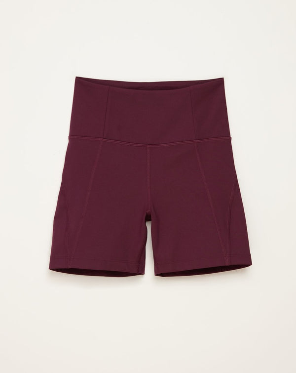 Girlfriend Collective - High Rise Bike Short Plum