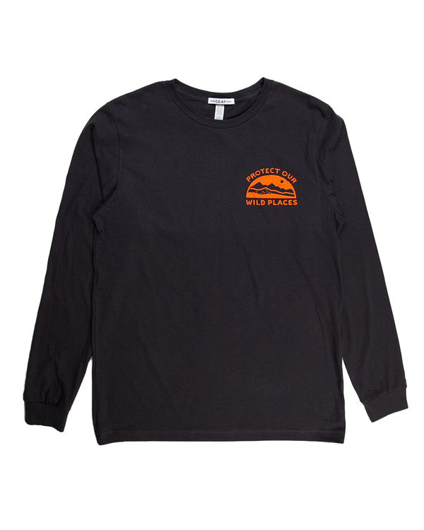 Camp Brand Goods - Wild Places Long Sleeve // Dark Grey