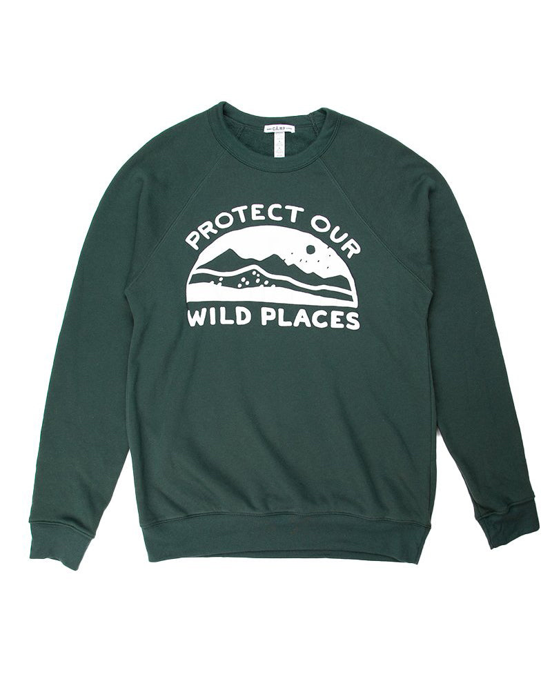 Camp Brand Goods - Wild Places Sweatshirt // Forest