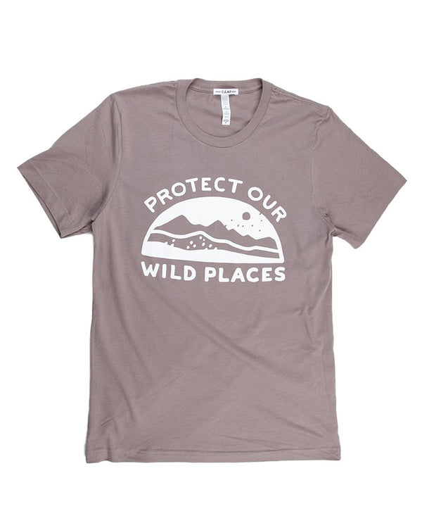 Camp Brand Goods - Wild Places T-Shirt // Pebble
