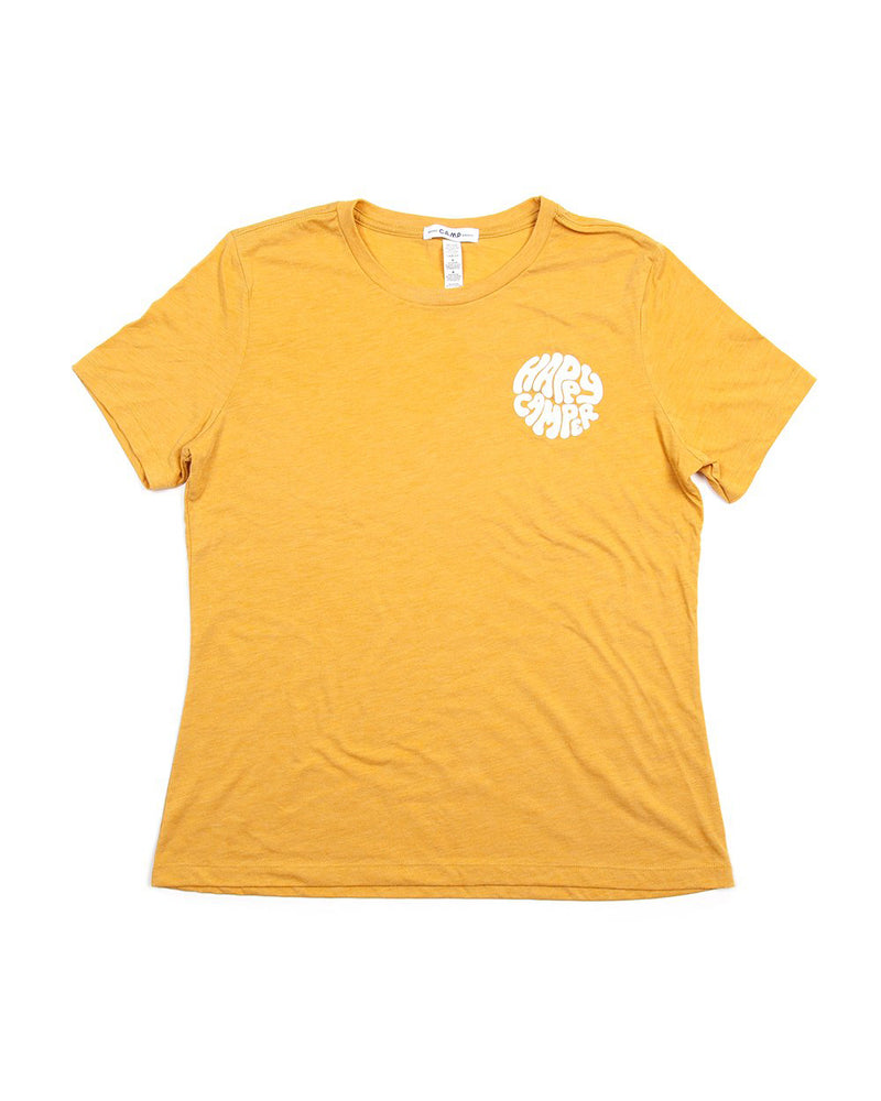 Camp Brand Goods - Happiest Camper Relaxed T-Shirt // Mustard