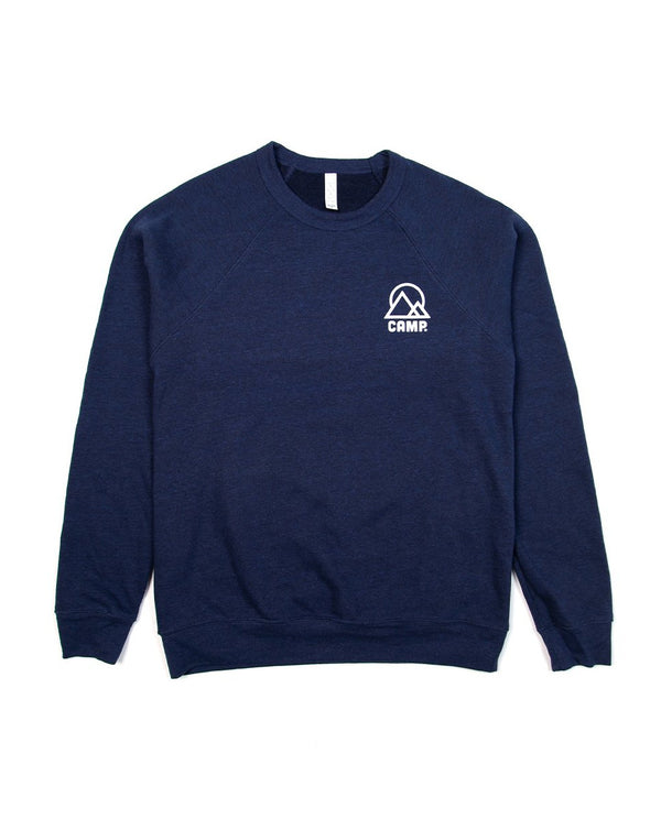 Camp Brand Goods - Retro Mountain Sweatshirt // Tri Navy