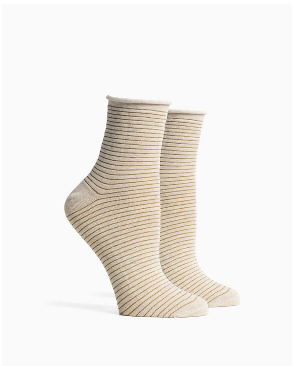 RICHER POORER - WOMANS GOLD HARI SOCK