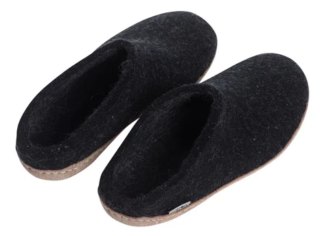 Glerups - Felt Open Heel Slipper Charcoal
