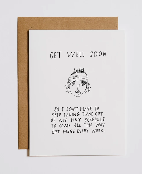 Mountains vs. Plains - Get Well Soon Card