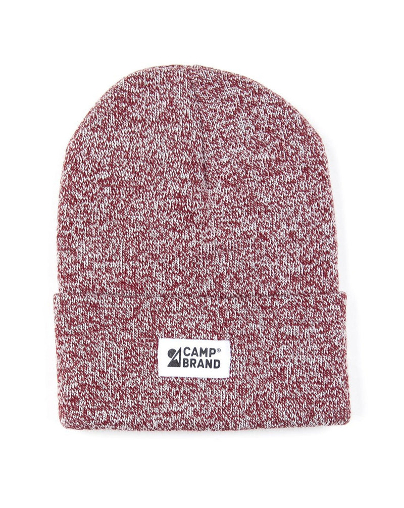 Camp Brand Goods - Mountain Logo Toque // Maroon Marl