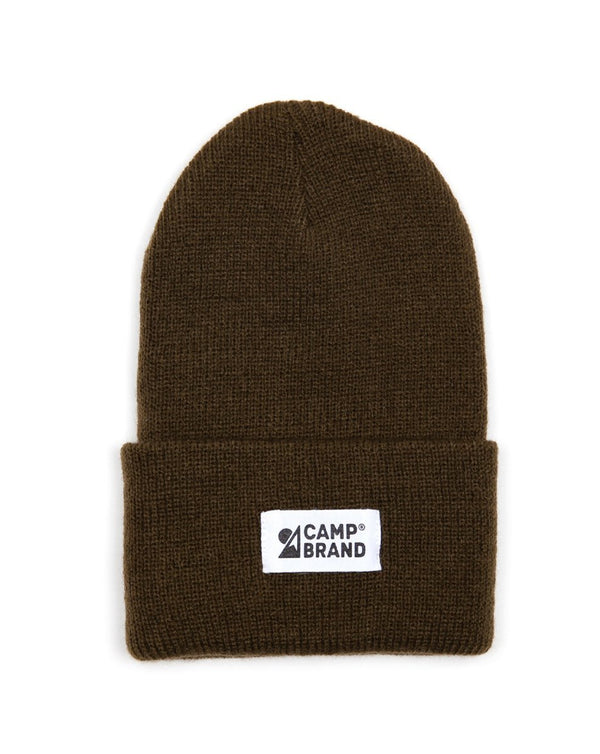 Camp Brand Goods - Kids Mountain Logo Toque // Olive
