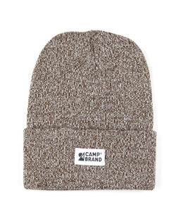 Camp Brand Goods - Mountain Logo Toque // Olive Marl