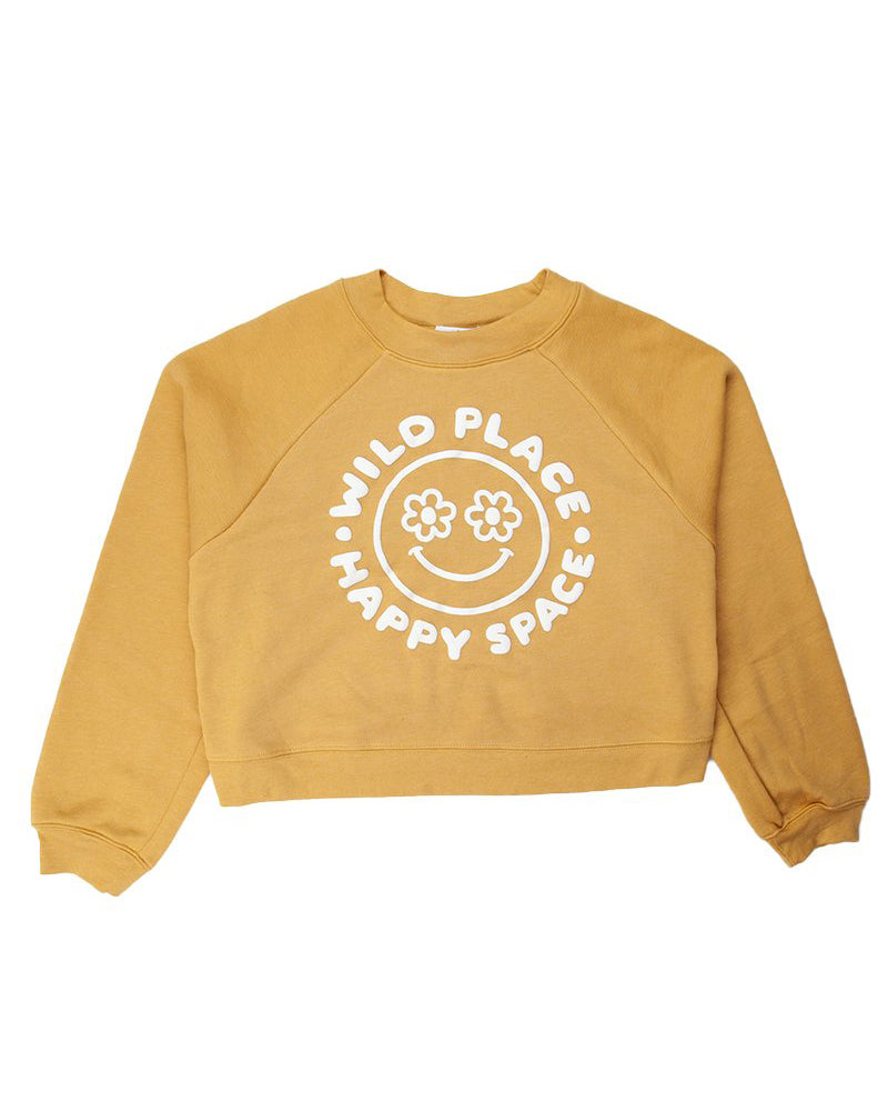 Camp Brand Goods - Happy Space Boxy Sweatshirt // Mustard