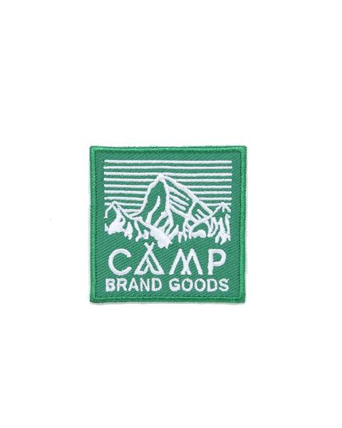 "CAMP BRAND GOODS - 2"" HERITAGE LOGO PATCH // GREEN"