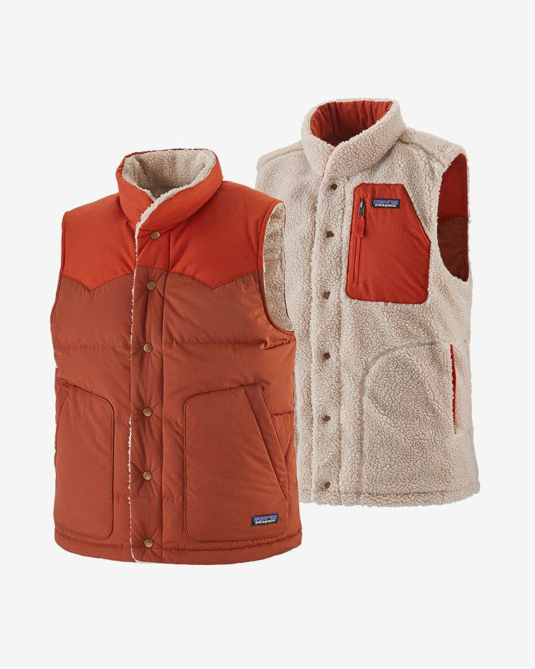Patagonia - M Reversible Bivy Down Vest Barn Red