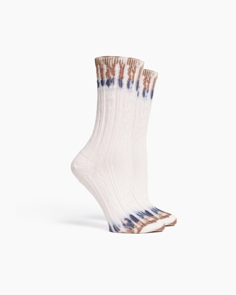 Richer Poorer - Cable Knit Sock Tie Dye