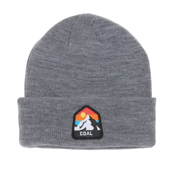Coal - Peak Beanie - Heather Grey