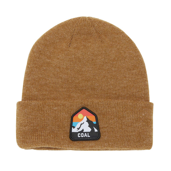Coal - Peak Beanie - Heather Mustard