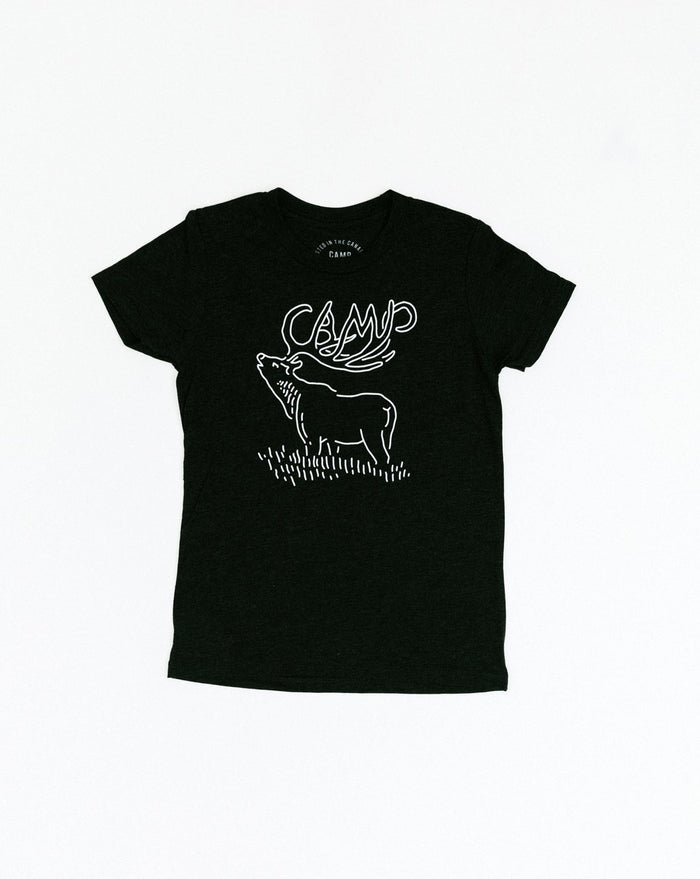 CAMP BRAND GOODS - KIDS CAMPIBOU T-SHIRT // TRI CHARCOAL