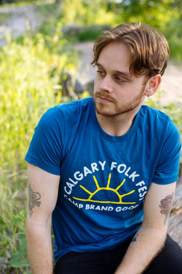 Camp Brand Goods - Camp x Folk Fest T-Shirt // Deep Teal