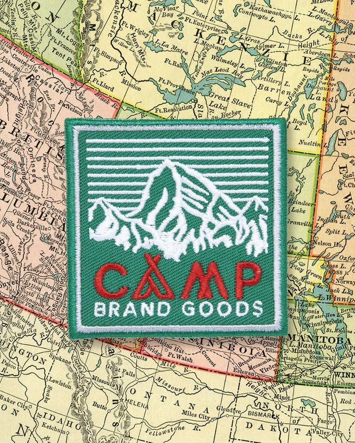 "CAMP BRAND GOODS - 2.5"" HERITAGE LOGO PATCH // GREEN"