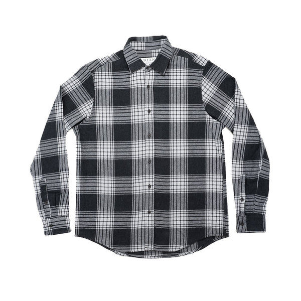 Anian - The Sunday Flannel - White-Black