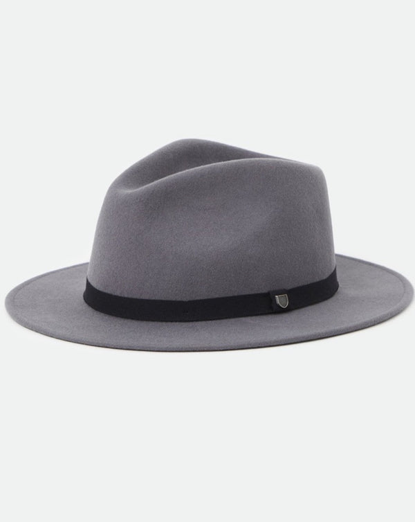 Brixton - Messer Packable Fedora Charcoal
