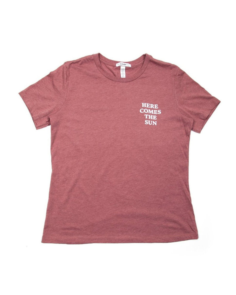 Camp Brand Goods - Here Comes The Sun Relaxed T-Shirt // Mauve