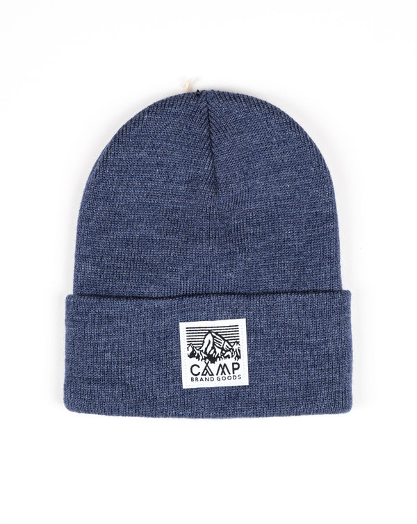 Camp Brand Goods - Heritage Logo Toque // Navy Heather