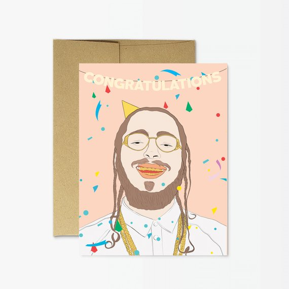 Party Mountain Cards - Post Malone Congratulations