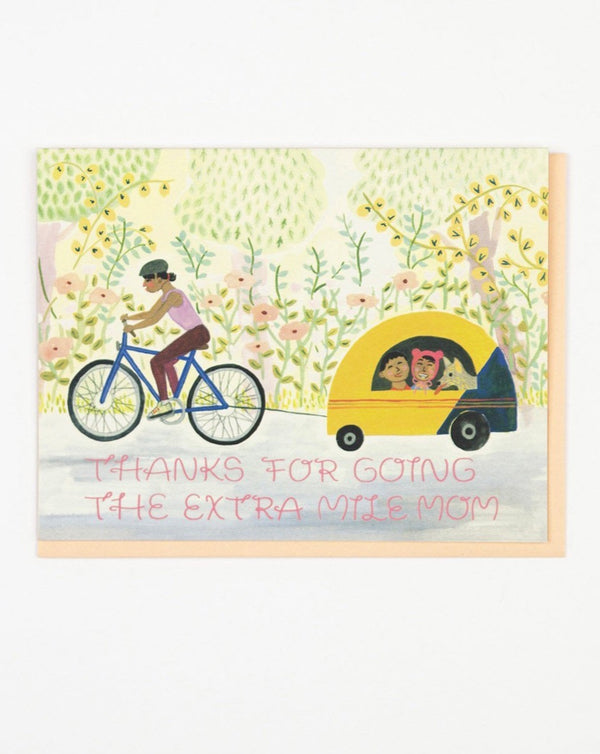 Small Adventures - Mom Biking Card