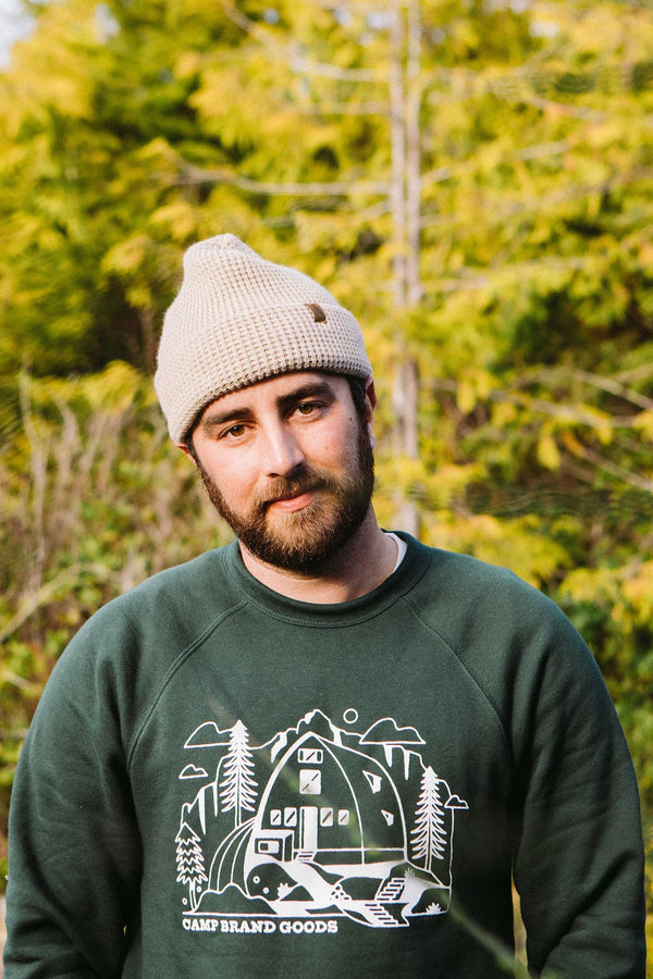 Camp Brand Goods - Kain Cabin Sweatshirt // Forest