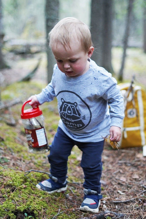 Camp Brand Goods - Toddler Bear Necessities Long Sleeve // Athletic Grey