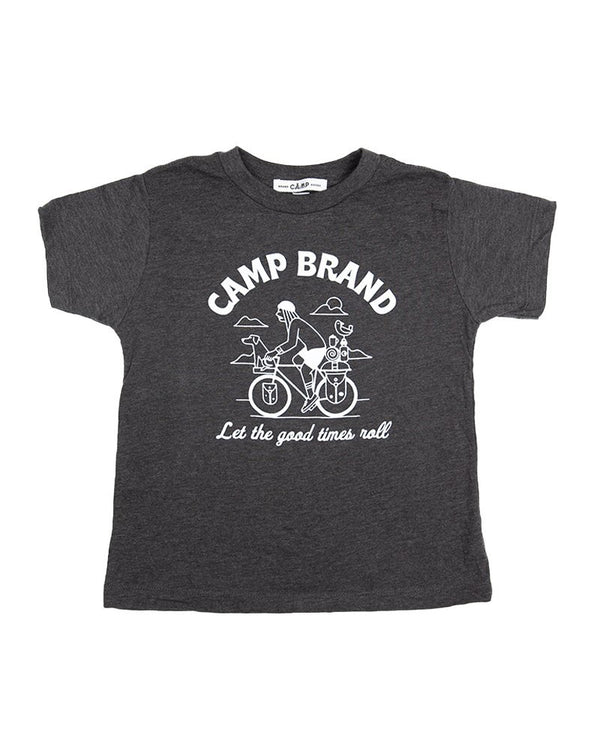 Camp Brand Goods - Toddler Let The Good Times Roll T-Shirt // Dark Grey