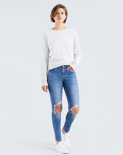 Levi's - High Rise Ripped Skinny Jeans - Rugged Indigo