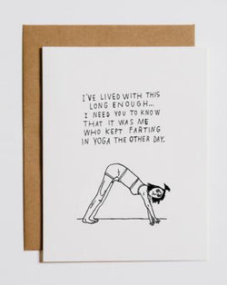 Mountains vs. Plains - Yoga Fart Card
