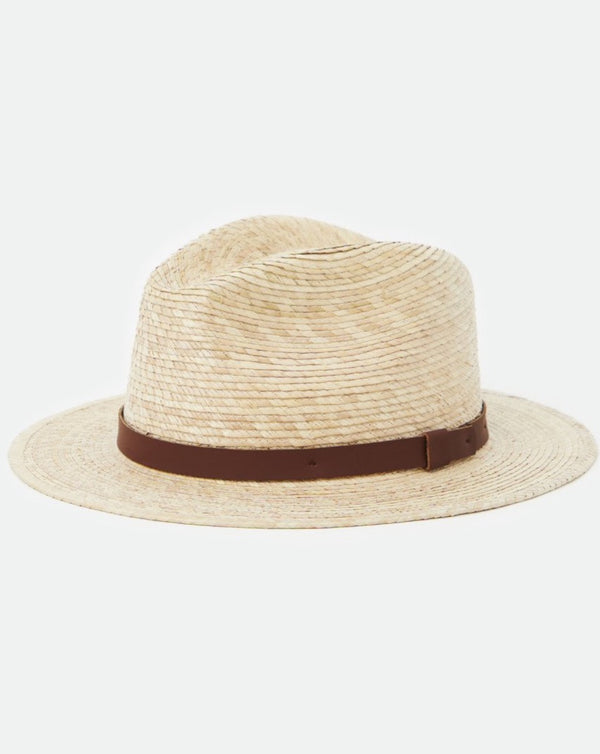 Brixton - Messer Straw Fedora Tan