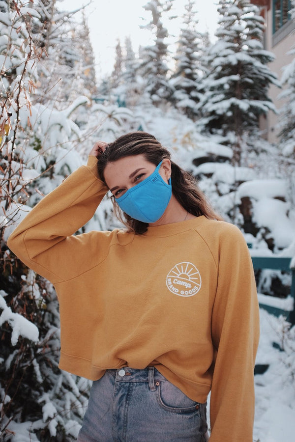 Camp Brand Goods - Face Mask // Blue