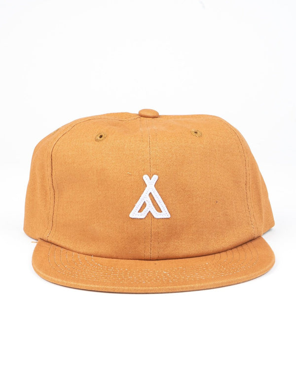 Camp Brand Goods - Campers Logo Unstructured 6 Panel Cap // Butterscotch