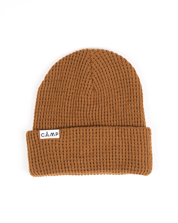 Camp Brand Goods - Wordmark Logo Waffle Toque - Copper