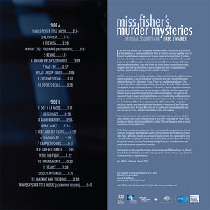 Miss Fisher Original Soundtrack LP - Back Cover