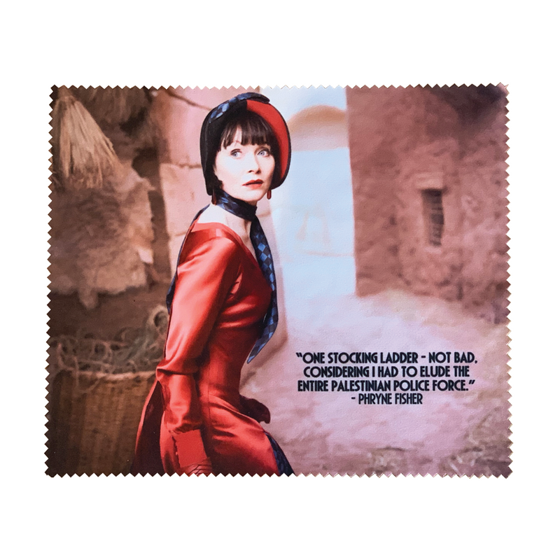 Miss Fisher and the Crypt of Tears 'Red Dress' Lens Cloth