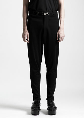 Sweat Pants With Metal Buckle